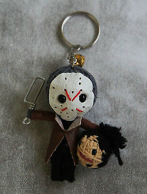 JASON HANDMADE VOODOO STRING MINIDOLL KEY CHAIN charm doll rope Horror