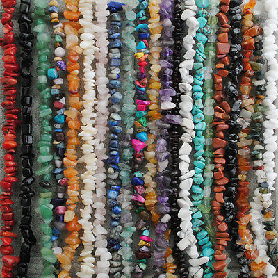 Natural Gemstone Freeform Chip Loose Beads Gem Stone Fit Jewelry DIY Design