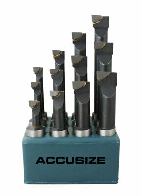 "3/4"" 12 Pcs/Set Carbide Tipped Boring Bar Set, #0375-0777"