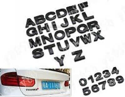 BLACK  3D Self-adhesive Letter number car badge door sticker for Home & Auto