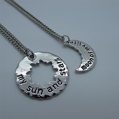 Game Of Thrones MOON OF MY LIFE and SUN & STARS Necklaces - His & Hers