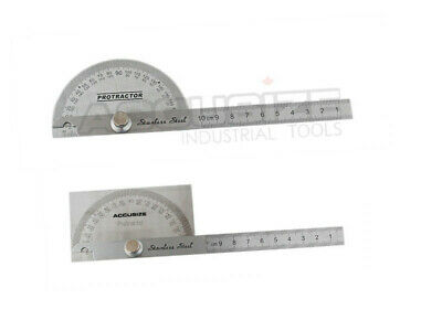 Stainless Steel Protractor Square & Round, #E607-1017&E607-1018