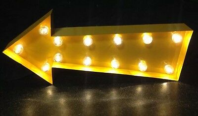 Marquee Light Vintage Industrial Style Yellow Arrow - Vegas, Mancaves, Gift
