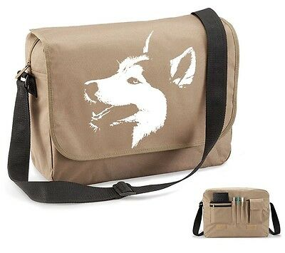Siberian Husky Messenger Bag Eco Personalised Sled Dog Sibe Present Mum  Gift