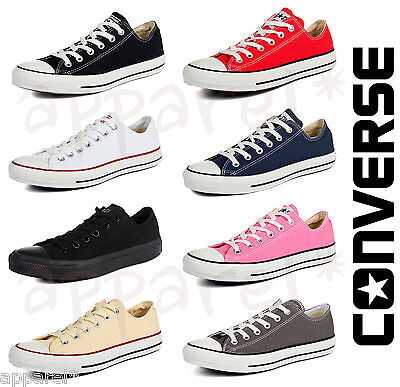 New Adults Converse Classic All Star Chuck Taylor Low Trainer Sneakers OX Shoes