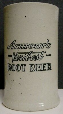 Circa 1910 Armour's Veribest Root Beer Stoneware Mug