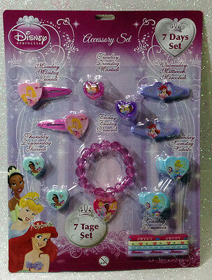 Disney Principesse Princess Set Accessori Accessories 7 Giorni Days