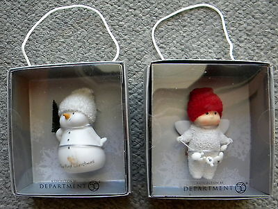 DEPARTMENT 56/ENESCO Christmas Ornament(2) OUR FIRST CHRISTMAS/SNOW ANGEL GIFTS