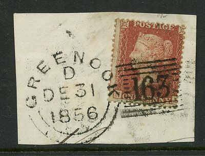 Penny Red Scotland Greenock Experimental Duplex 1856