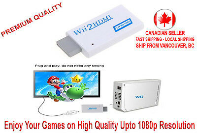 Wii to HDMI Converter Adapter 480i/P Upscale to 720 / 1080P+3.5mm Audio