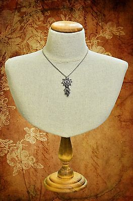 Vintage inspired Jewelry display Calico Bust for necklaces and earrings