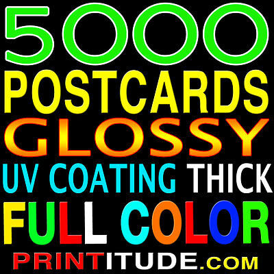 "CUSTOM PRINTING 5000 POSTCARDS 4""x4"" FULL COLOR GLOSSY 2 SIDED 4x4 FREE Design"