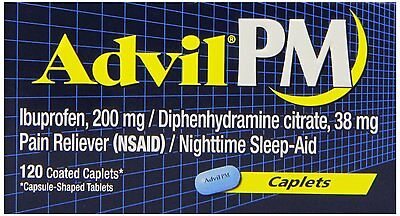 Advil PM Pain Reliever/Nighttime Sleep Aid Caplets 120ct