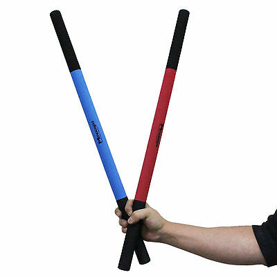 Foam Escrima 2 pcs Set Red Blue Sponge Sticks Martial Arts Weapons Safe Training