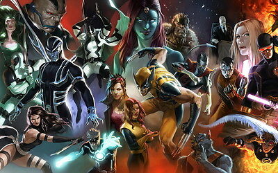 Comics X-Men picture Giclee print on canvas Large Landscape wall decor 20×30