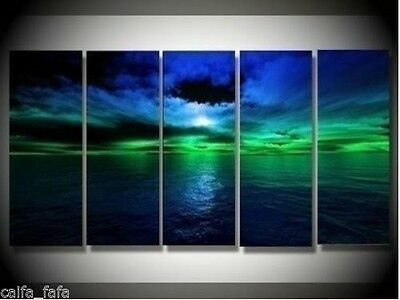 5PC MODERN ABSTRACT handicraft HUGE WALL ART OIL PAINTING ON CANVAS