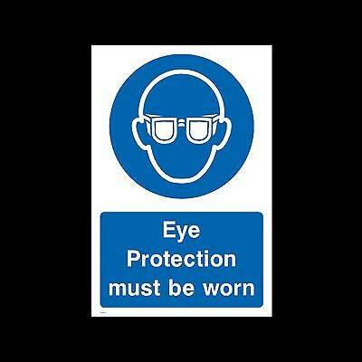 Eye Protection to be worn PPE- Sticker or 6mm Correx Sign - Site Safety - CSSS17
