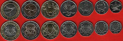 Botswana set of 7 coins: 5 thebe - 5 pula 2013 UNC