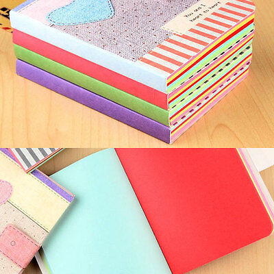 Cute Colorful Hardback Notepad Writing Paper Diary Journal Memo Stationery Gifts