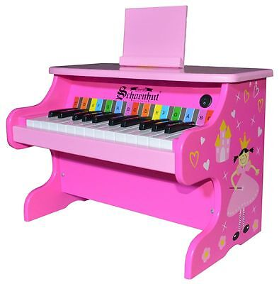 25 Key Electronic Piano for Children by Schoenhut -  Pink Princess Style