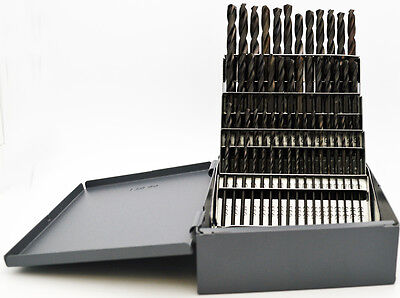 #1 - #60 Stub Length Black Drill Set 135°Point Quality USA RMT #95090876