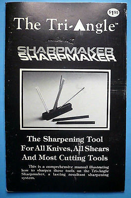 Tri-Angle SharpMaker Instruction Manual for Sharpening Knives/Shears 25 Pages VG