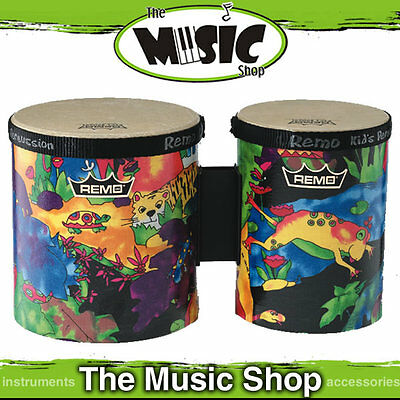 "New Remo Kids Percussion 5"" & 6"" Bongo Drum Set - Junior Bongos - KD-5400-01"