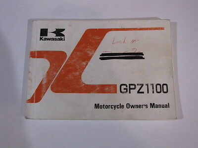 Kawasaki Gpz1100 Zx1100-E1  Owners Owner Owner's Manual