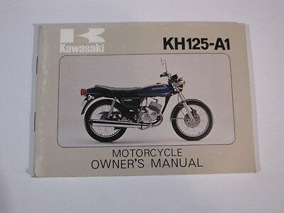 Kawasaki Kh125 Kh125-A1  Owners Owner Owner's Manual