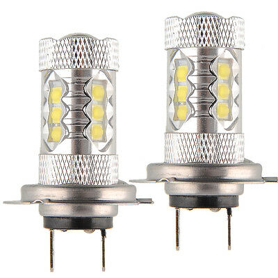 2x 80W Cree White H7 High Power LED Car Auto Vehicle Fog Light Bulbs 8-30V