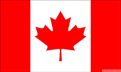 "CANADA BUDGET FLAG small 9""x6"" GREAT FOR CRAFTS Canadian"