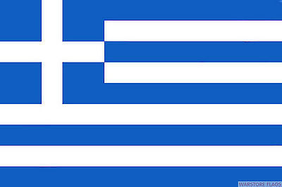 "GREECE BUDGET FLAG small 9""x6"" GREAT FOR CRAFTS GREEK ATHENS"
