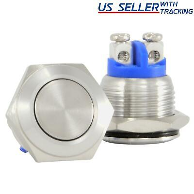 16mm Starter Switch / Boat Horn Momentary Push Button Stainless Steel Metal