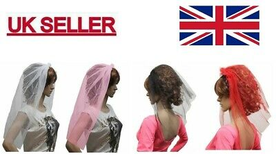 Veil On Hair Band For Hen Night And Fancy Dress