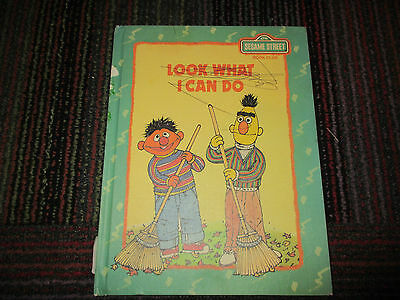 SESAME STREET, LOOK WHAT I CAN DO, 1985 HARDCOVER BOOK