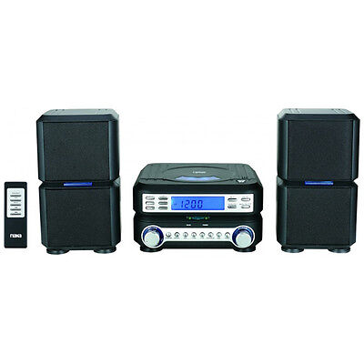Naxa Digital CD Micro System with AM/FM Stereo Radio & Dual Speakers | NS-438