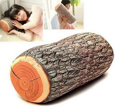 FD1295 Natural Wood Style Cushion Neck Home Sleeping Throw Log Back Soft Pillow