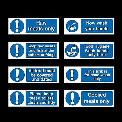 Wash Your Hands Sign / Food Hygiene 2 - Plastic Sign or Sticker - All Sizes