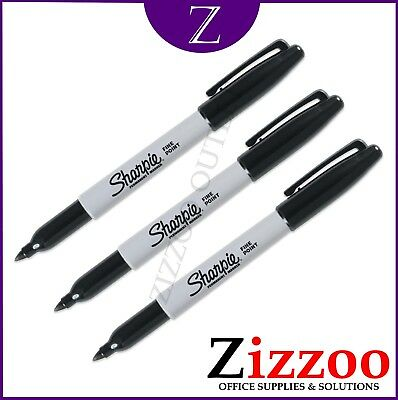 Sharpie Marker Pens X 3 - Permanent Fine Point - Choice Of Colours + Free P&p!