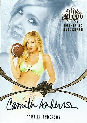 (HCW) 2013 Bench Warmer National Autographs CAMILLE ANDERSON Auto Card