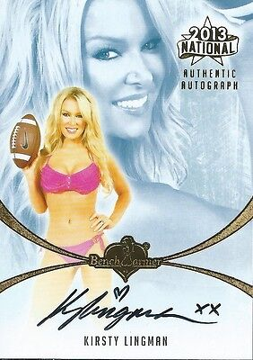 (HCW) 2013 Bench Warmer National Autographs KIRSTY LINGMAN Auto Card