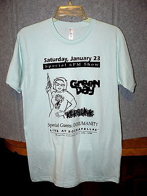 Rare! GREEN DAY : Kerplunk T-SHIRT Special Show LIVE @ ROCKAFELLAS Columbia, SC