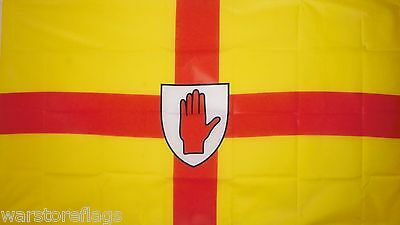 """ULSTER BUDGET FLAG small 9""""x6"""" GREAT FOR CRAFTS NORTHERN IRELAND IRISH"""