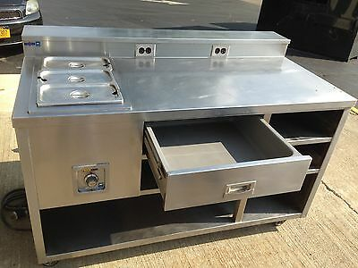 Wells Warming Food Prep Table 5'  Stainless Steel w/ drawer