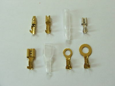 NON INSULATE CRIMP TERMINALS CONNECTORS AND COVERS x 200