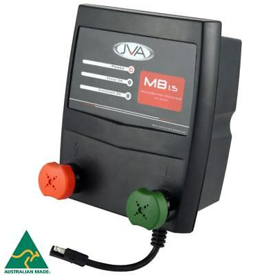 JVA MB1.5 Mains Electric Fence Energiser (Mains/Battery) - 2J, 15km