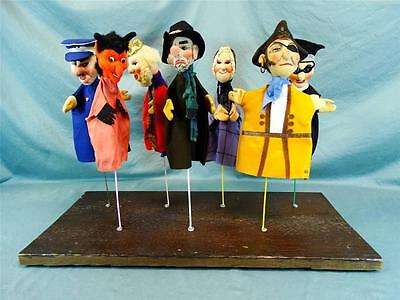 """7 Vintage """"Kersa"""" Hand Puppets - Made in Germany C. 1940s?"""