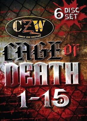 CZW Cage of Death Anthology DVD Set, Combat Zone Wrestling New Jack Lobo Masada
