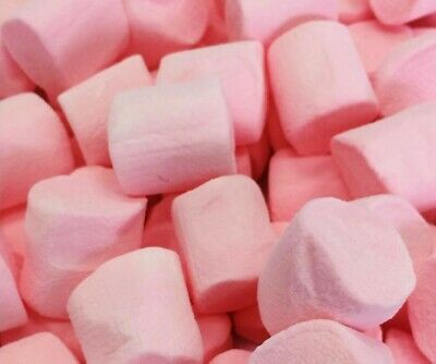 Large Pink Strawberry Marshmallows 1Kg Candy Lolly Buffet Pink Lollies