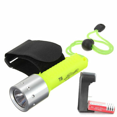 Waterproof Compact Dive Torch CREEXL-M T6 LED 1600 Lumens with battery + charger